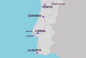 Explore Portugal map