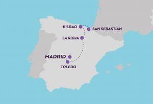 Culinary Journey in Spain map