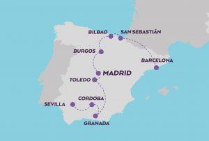Inmersive Spain map